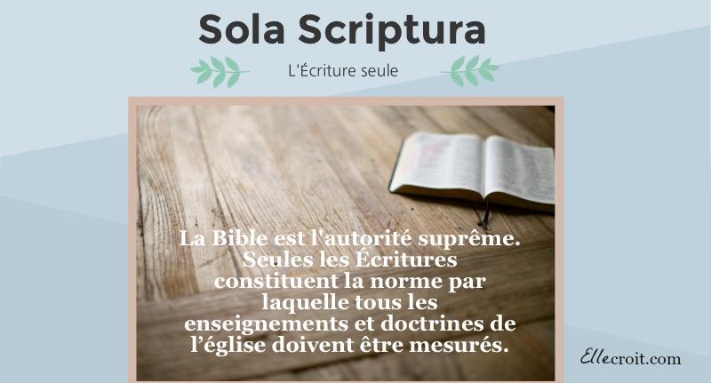 sola scriptura Ecriture ellecroit.com