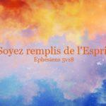 L'Esprit Saint, nous n'avançons pas sans Lui