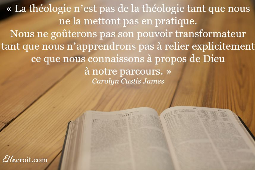 citation carolyn james théologie livre ellecroit.com
