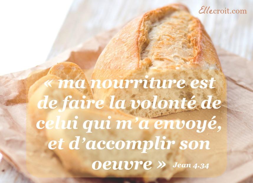 jean 4.34 volonté de Dieu ellecroit.com