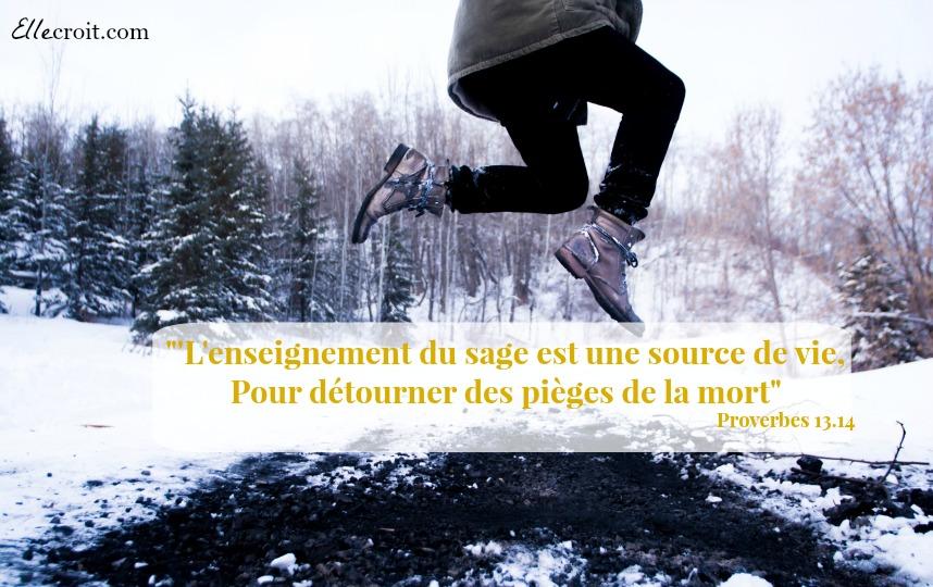 proverbes 13.14 enseignement sage ellecroit.com