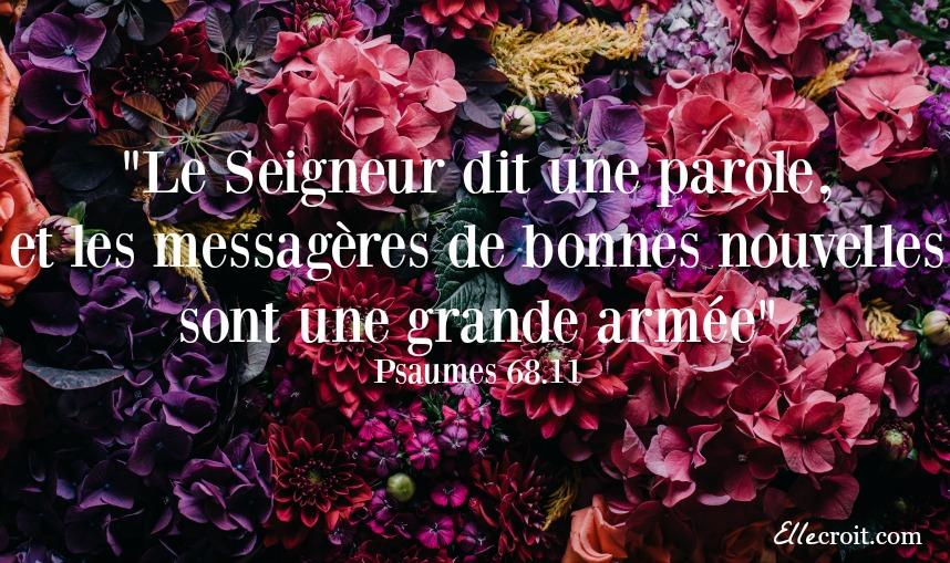 Psaumes 68.11 ellecroit.com