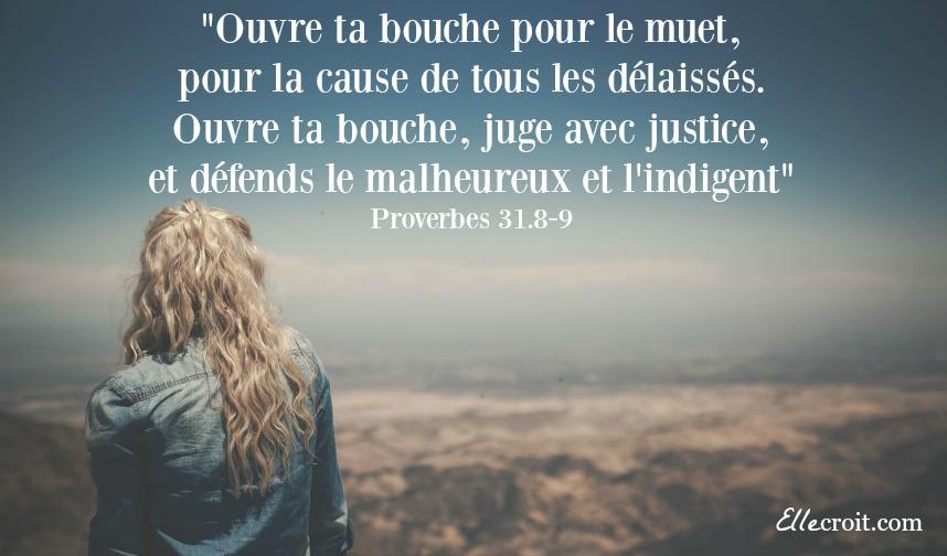 Proverbes 31.8-9 cause justice ellecroit.com