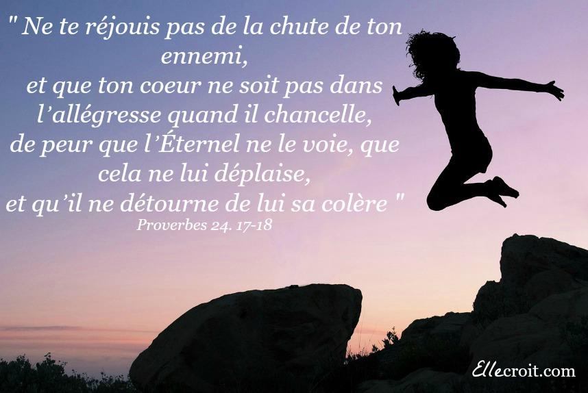 proverbes 24. 17 18 joie délivrance Esther ellecroit.com