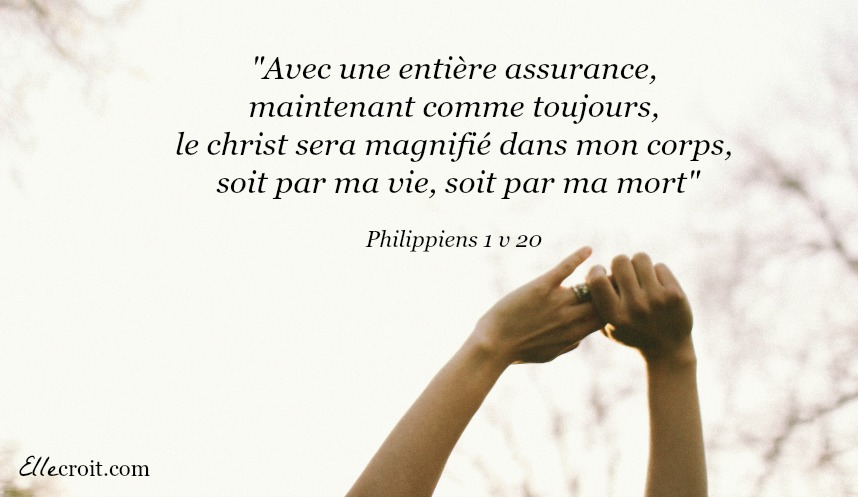 philippiens 1.20 christ mort vie ellecroit.com