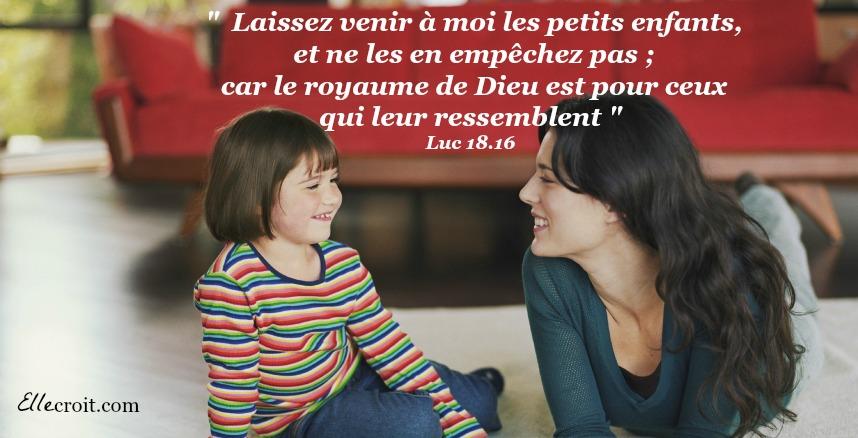 Luc 18.16 les enfants et Jésus