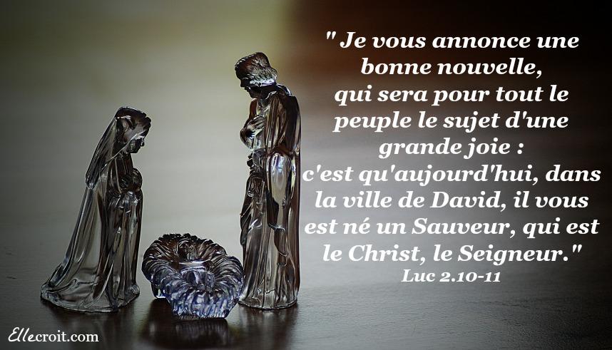 Luc 2. 10 11 Jésus saveur Christ ellecroit.com