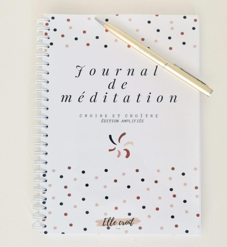 journal de méditation version amplifiée elle croit
